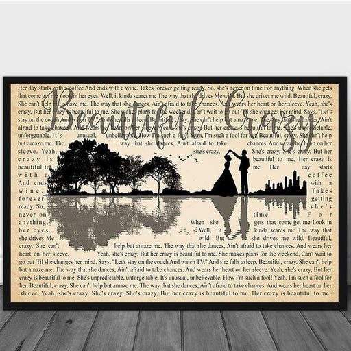 Beautiful crazy first dance song poster canvas - GIFTCUSTOM