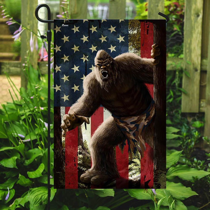 Big Foot American Flag | Garden Flag | Double Sided House Flag - GIFTCUSTOM