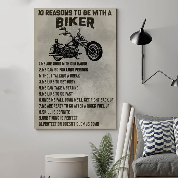 biker Canvas and Poster ��� 10 reasons to be with a biker wall decor visual art - GIFTCUSTOM