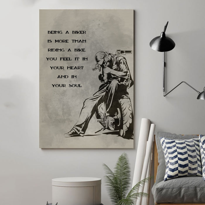 biker Canvas and Poster ��� being a biker wall decor visual art - GIFTCUSTOM