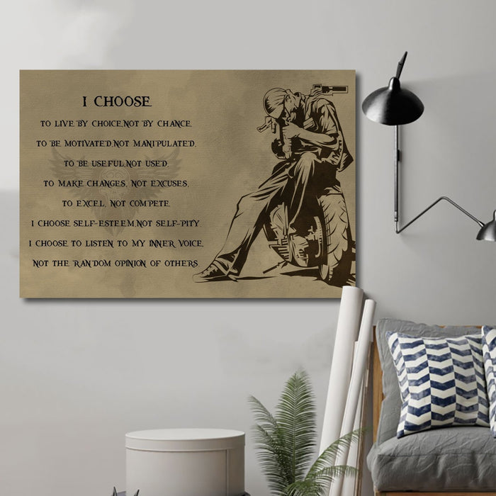 biker Canvas and Poster ��� i choose wall decor visual art - GIFTCUSTOM
