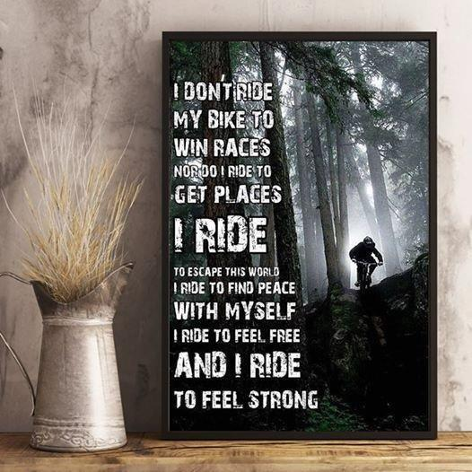 Biker Canvas and Poster ��� I dont ride my bike wall decor visual art - GIFTCUSTOM