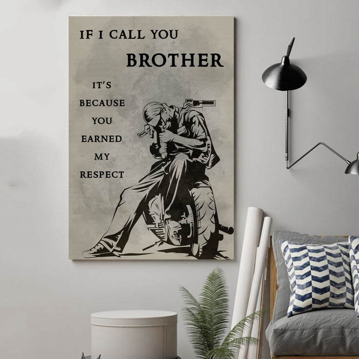 biker Canvas and Poster ��� if i call you brother wall decor visual art - GIFTCUSTOM