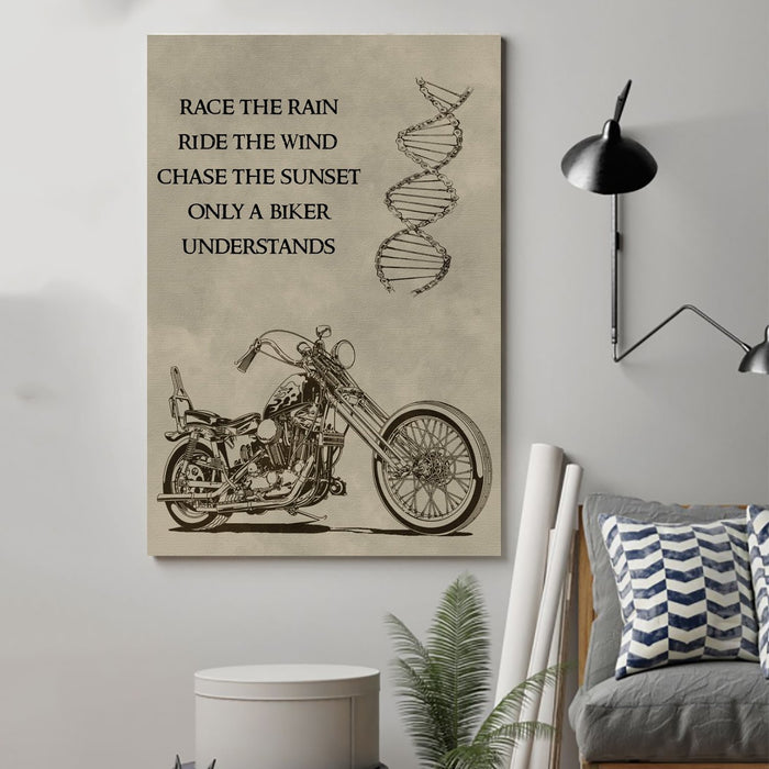 biker Canvas and Poster ��� only a biker understands wall decor visual art - GIFTCUSTOM