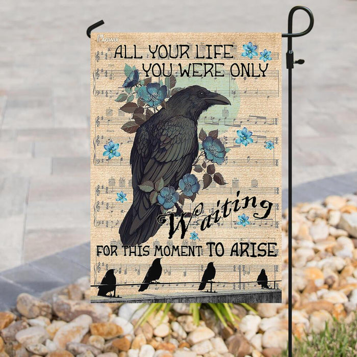 Blackbird For This Moment To Arise Flag | Garden Flag | Double Sided House Flag - GIFTCUSTOM