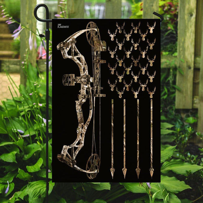 Bowhunting Flag | Garden Flag | Double Sided House Flag - GIFTCUSTOM
