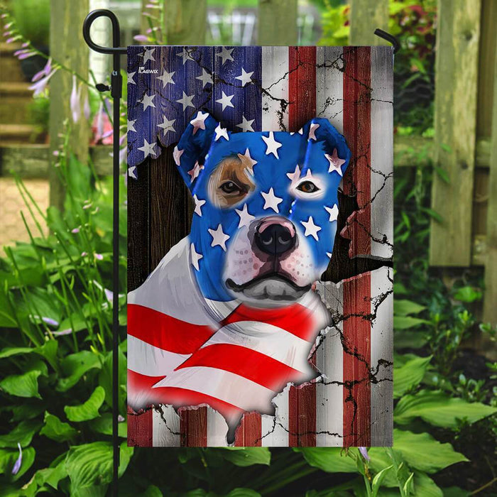 Bully American Flag | Garden Flag | Double Sided House Flag - GIFTCUSTOM