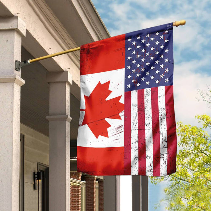 Canada America Friendship Flag | Garden Flag | Double Sided House Flag - GIFTCUSTOM