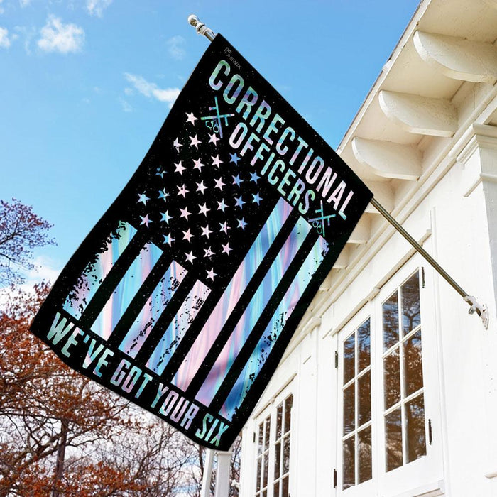 Correctional Officers Flag | Garden Flag | Double Sided House Flag - GIFTCUSTOM
