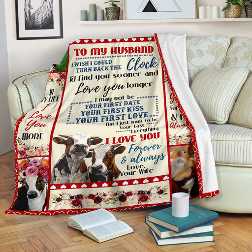 Cow First Kiss First Love Blanket - GIFTCUSTOM