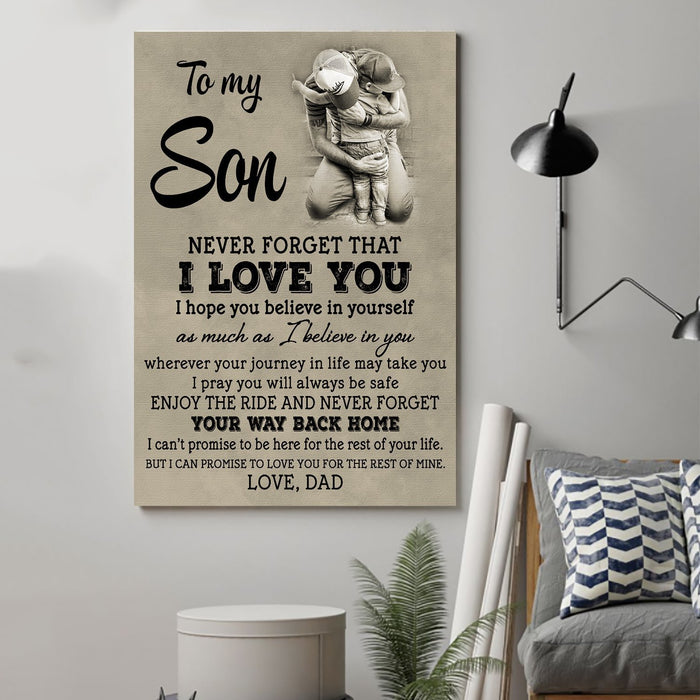 ��� Dad and son Canvas and Poster ��� never forget that vs2 wall decor visual art - GIFTCUSTOM