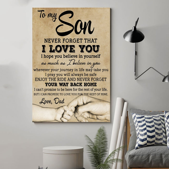 ��� Dad son Canvas and Poster ��� never forget that vs4 wall decor visual art - GIFTCUSTOM