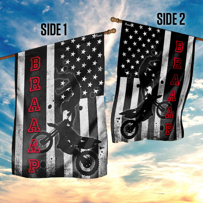 Dirt Bike Flag | Garden Flag | Double Sided House Flag - GIFTCUSTOM
