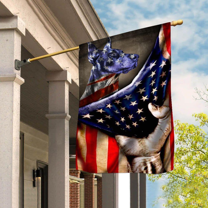 Doberman Flag Doberman US - GIFTCUSTOM