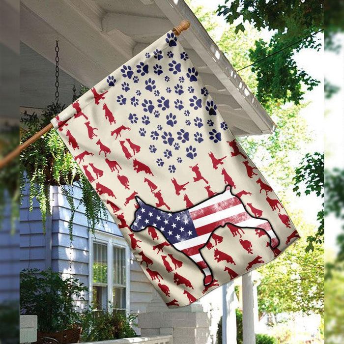 Doberman Pinscher Celebrate Fourth Of July Independent Day Flag | Garden Flag | Double Sided House Flag - GIFTCUSTOM