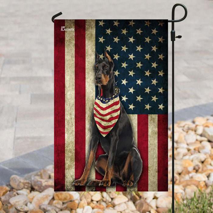 Doberman Pinscher Flag | Garden Flag | Double Sided House Flag - GIFTCUSTOM