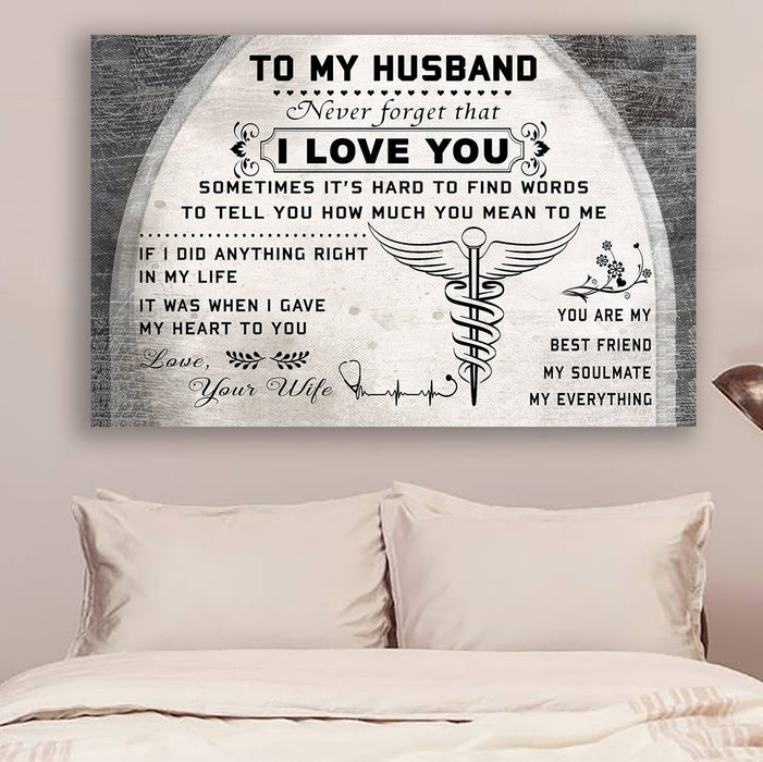 Doctor Canvas and Poster ��� To my husband ��� I love you wall decor visual art - GIFTCUSTOM
