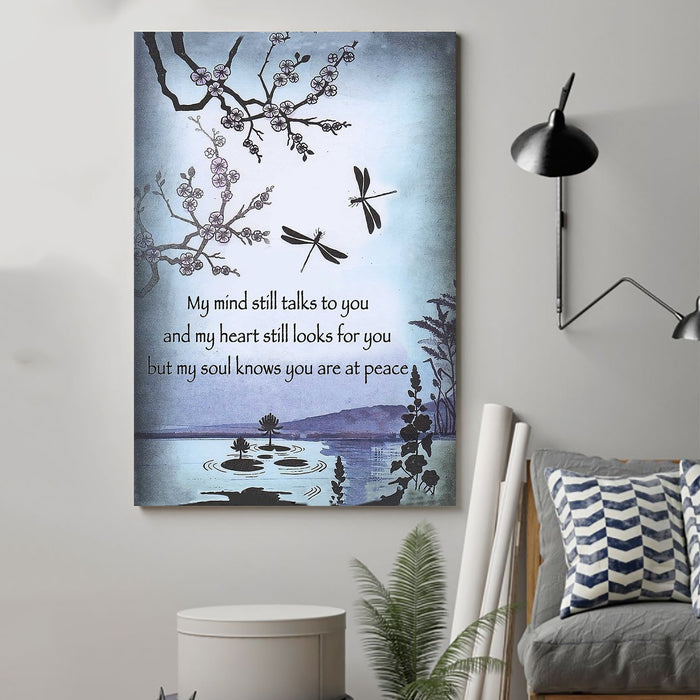 Dragonfly Canvas and Poster ��� My mind still talks to you wall decor visual art - GIFTCUSTOM