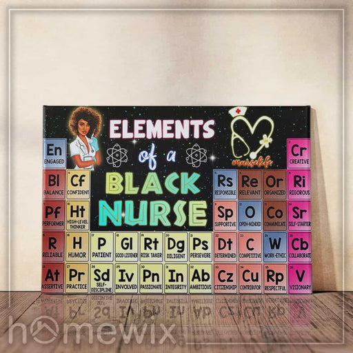 Elements Of A Black Nurse Canvas And Poster | Wall Decor - GIFTCUSTOM