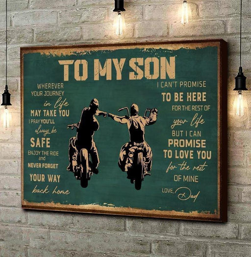 Enjoy The Ride Poster | Gift For Son, Gift From Dad Biker - GIFTCUSTOM