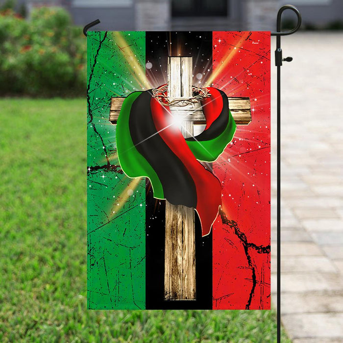 Faith In Africa Flag | Garden Flag | Double Sided House Flag - GIFTCUSTOM