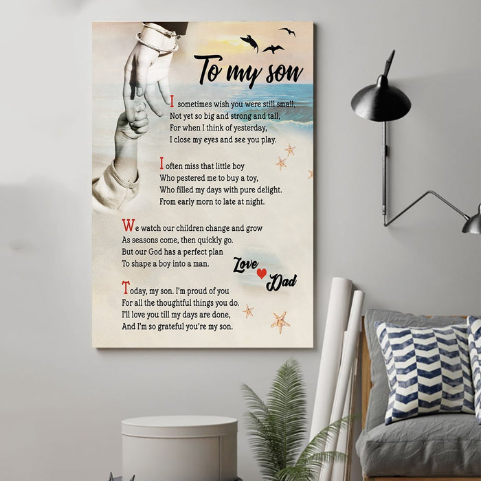 Family Canvas and Poster ��� Dad To Son ��� I sometimes wish you wall decor visual art - GIFTCUSTOM