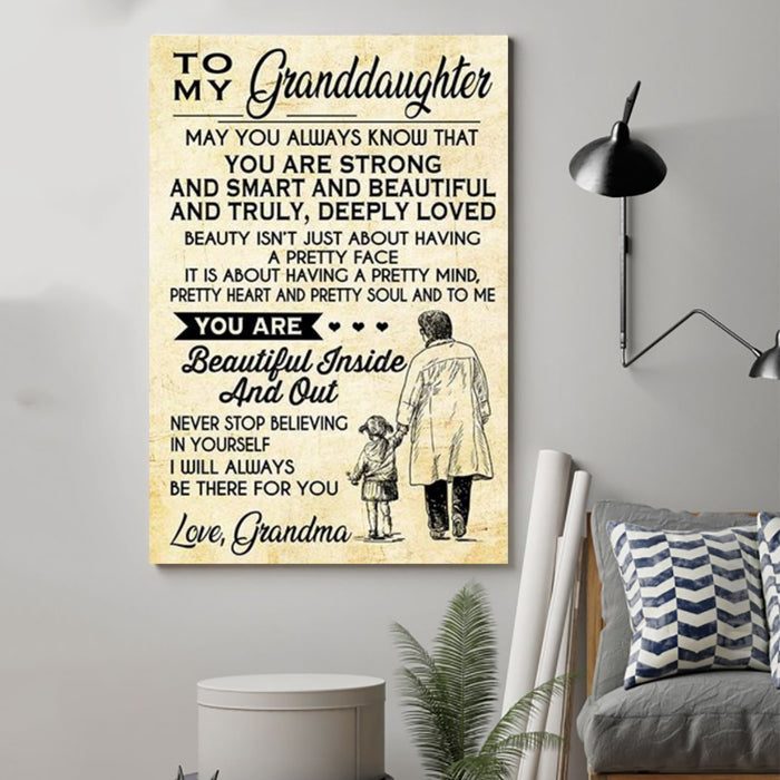 Family Canvas and Poster ��� grandma to granddaughter ��� may you always wall decor visual art - GIFTCUSTOM