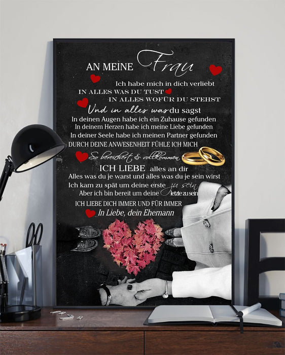 Family Canvas and Poster ��� Husband to wife Ger wall decor visual art - GIFTCUSTOM