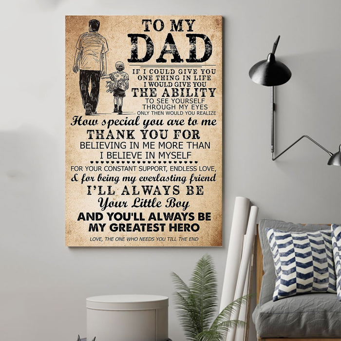 Family Canvas and Poster ��� Son to dad ��� If I could give you wall decor visual art - GIFTCUSTOM