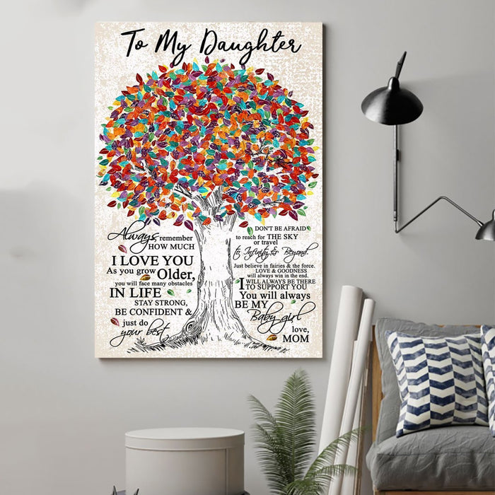 family Canvas and Poster ��� to daughter ��� always remember wall decor visual art - GIFTCUSTOM