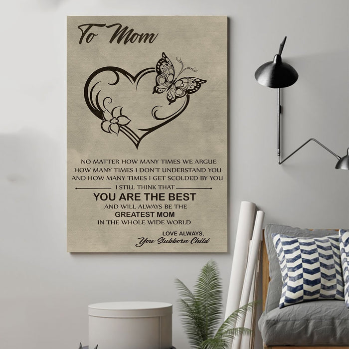 family Canvas and Poster ��� to Mom ��� you are the best wall decor visual art - GIFTCUSTOM