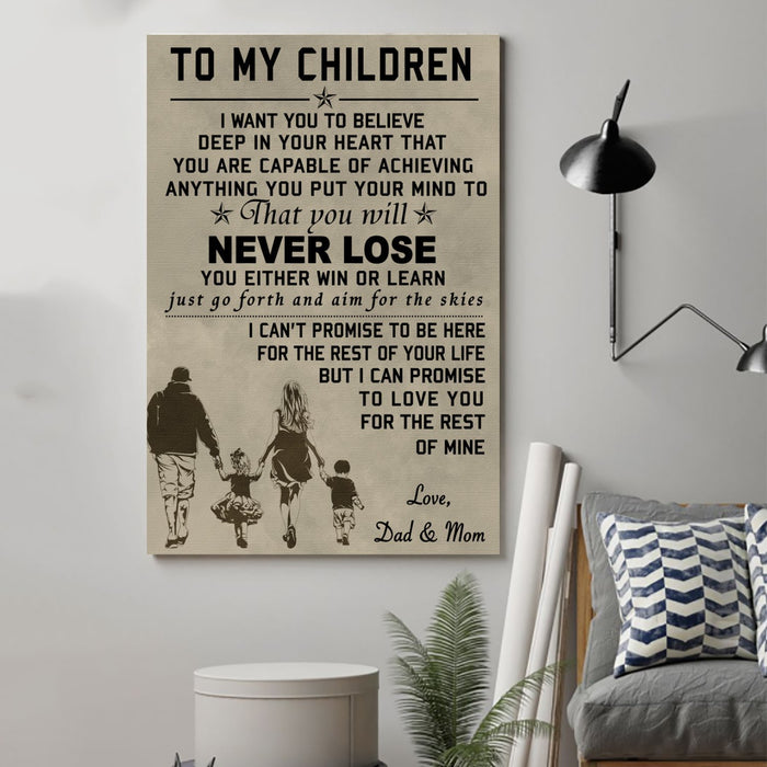 family Canvas and Poster ��� to my children wall decor visual art - GIFTCUSTOM
