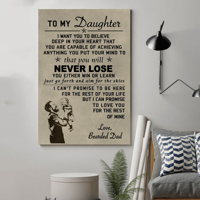 family Canvas and Poster ��� to my daughter wall decor visual art - GIFTCUSTOM