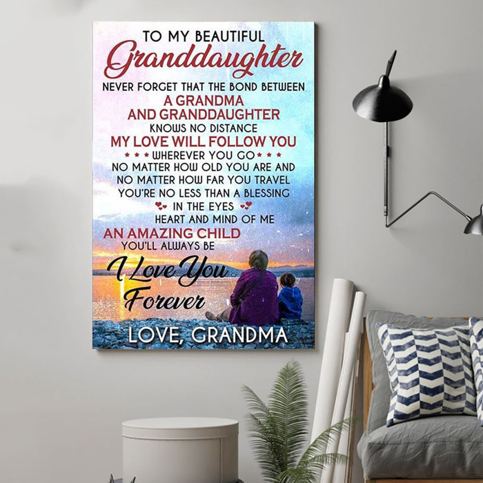 Family Canvas and Poster ��� To my grandaughter wall decor visual art - GIFTCUSTOM