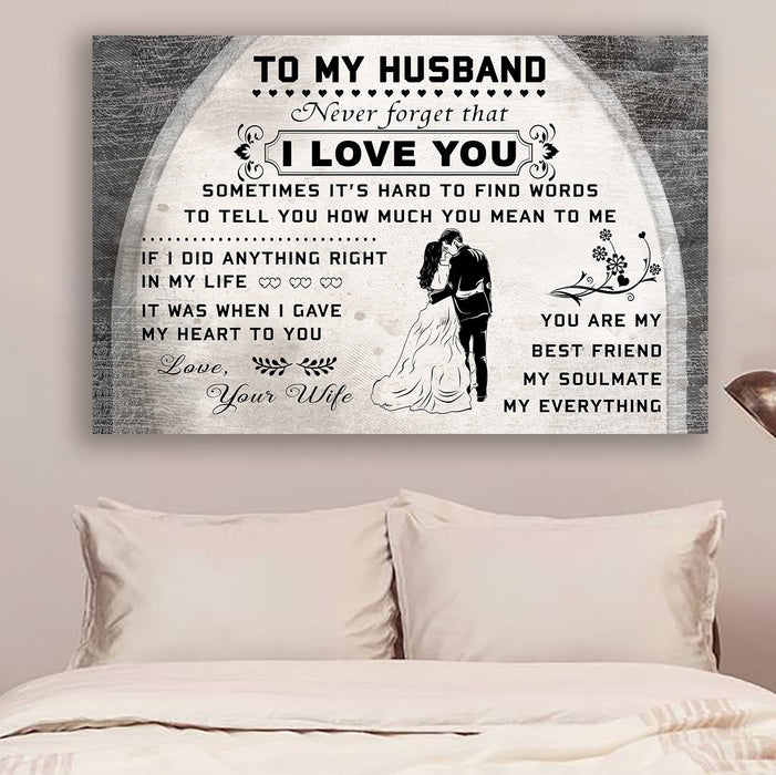 family Canvas and Poster ��� To my husband ��� I love you wall decor visual art - GIFTCUSTOM