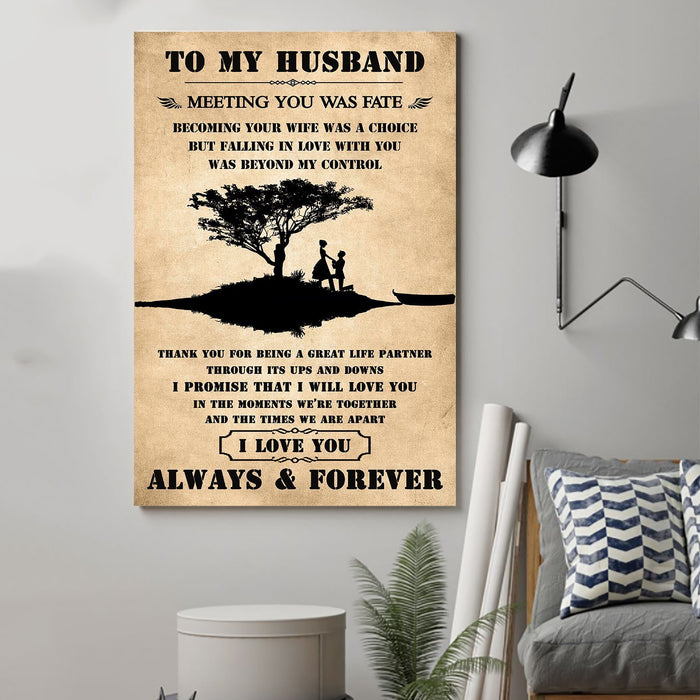Family Canvas and Poster ��� To my husband ��� Meeting you was fate wall decor visual art - GIFTCUSTOM