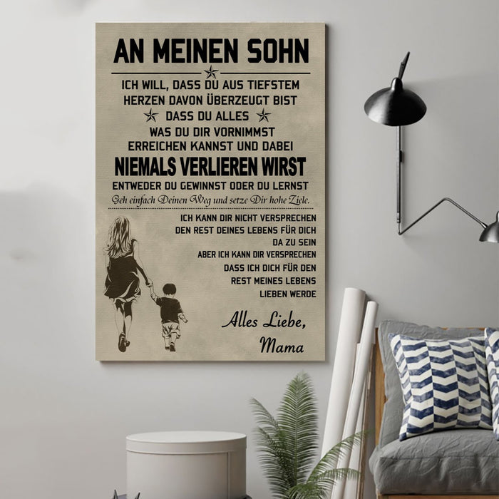 Family Canvas and Poster ��� To my Son ( Germany wall decor visual art - GIFTCUSTOM