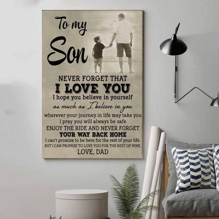 ��� family Canvas and Poster ��� to my son ��� never forget that wall decor visual art - GIFTCUSTOM