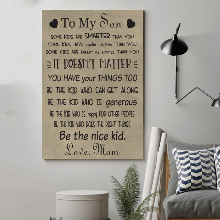 family Canvas and Poster ��� to my son wall decor visual art - GIFTCUSTOM