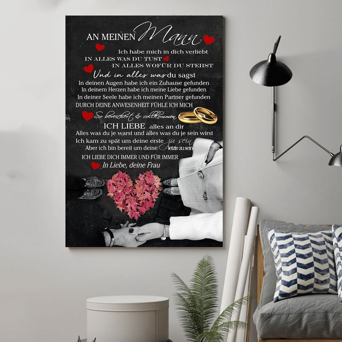 Family Canvas and Poster ��� Wife to husband ��� Ich liebe alles GE vs2 wall decor visual art - GIFTCUSTOM