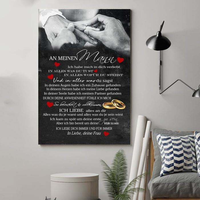 Family Canvas and Poster ��� Wife to husband ��� Ich liebe alles GE wall decor visual art - GIFTCUSTOM