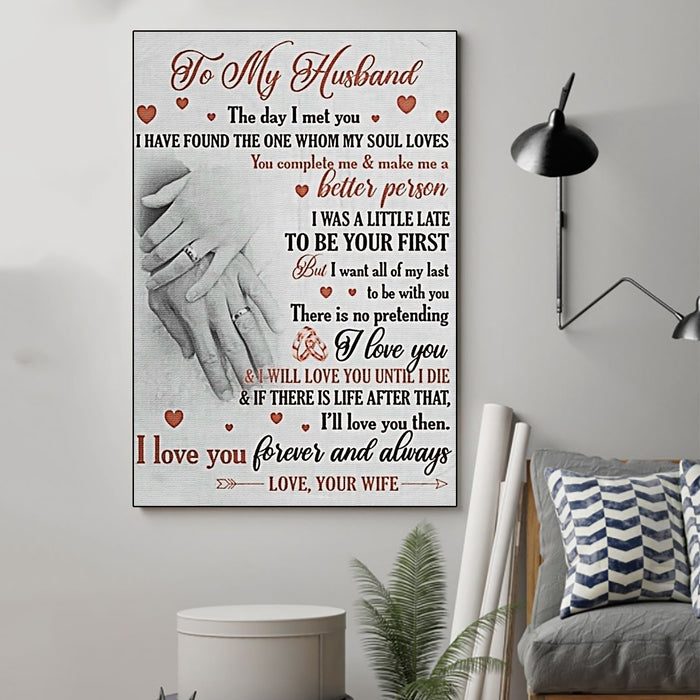 Family Canvas and Poster ��� Wife to husband ��� The day I met you wall decor visual art - GIFTCUSTOM