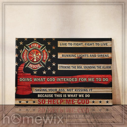 Firefighter Canvas And Poster Wall Art | Wall Decor - GIFTCUSTOM