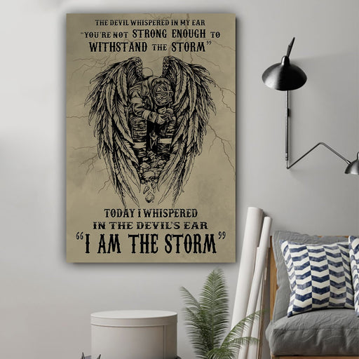 Firefighter poster I am the storm - GIFTCUSTOM