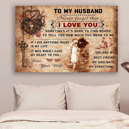 Firefighter poster Wife to Husband I love you - GIFTCUSTOM