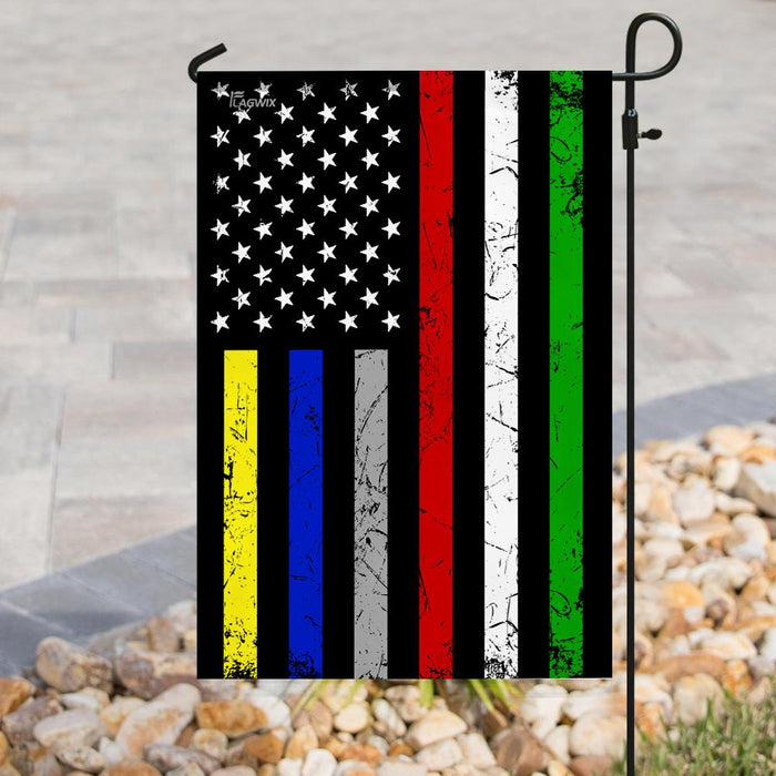 First Responder Flag | Garden Flag | Double Sided House Flag - GIFTCUSTOM