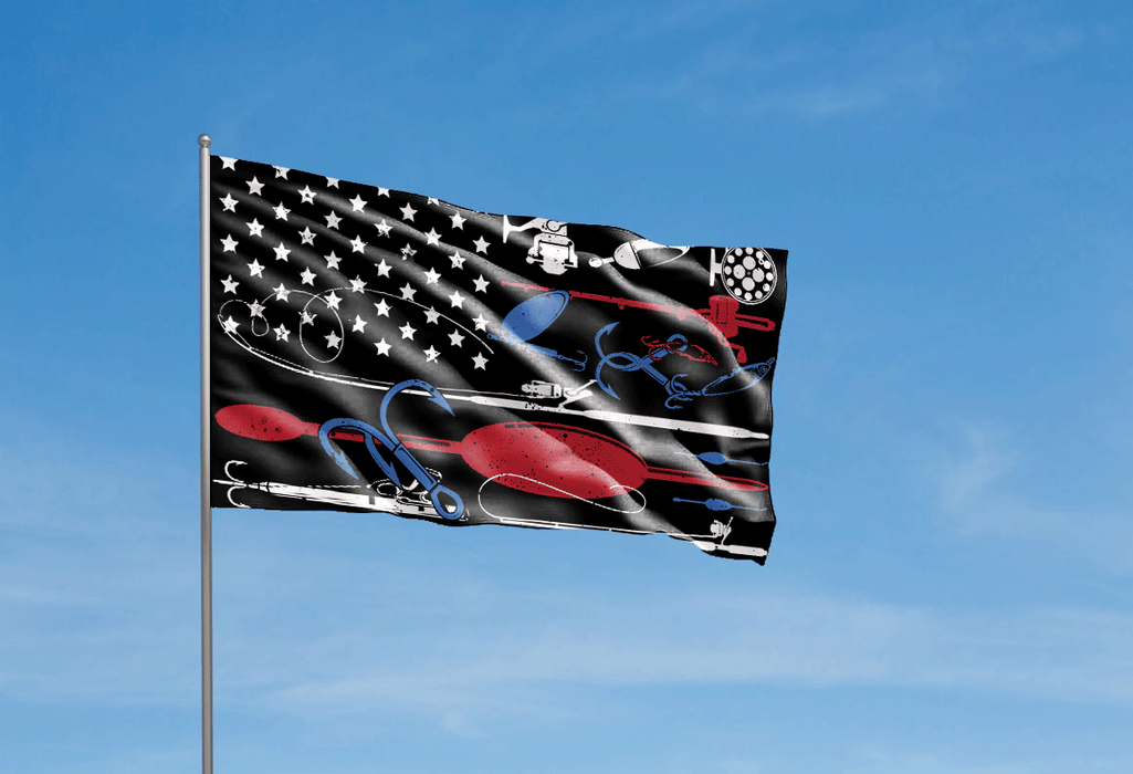 Fishing Flag American Fishing - GIFTCUSTOM