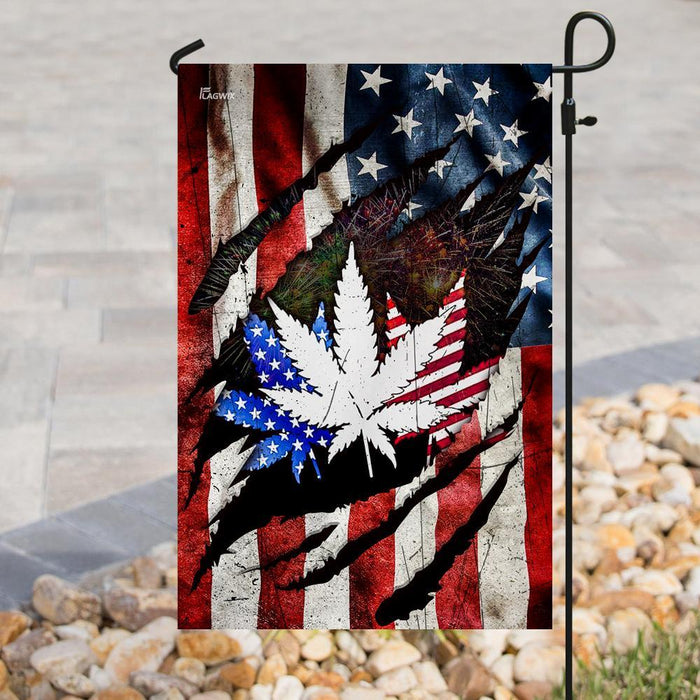 Four Twenty Freedom 4th July Flag | Garden Flag | Double Sided House Flag - GIFTCUSTOM