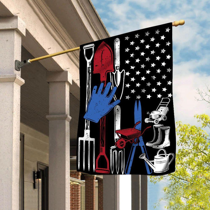 Gardening Flag Gardening Red White Blue - GIFTCUSTOM
