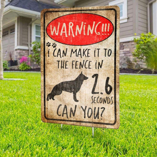 German Shepherd Yard Sign (24 x 18 inches) - GIFTCUSTOM